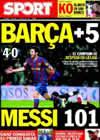 Portada diario Sport del 17 de Enero de 2010