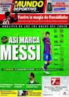 Portada Mundo Deportivo del 18 de Enero de 2010