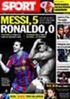 Portada diario Sport del 19 de Enero de 2010