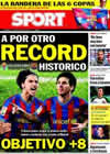 Portada diario Sport del 23 de Enero de 2010