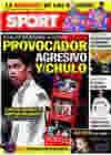 Portada diario Sport del 26 de Enero de 2010