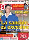 Portada diario AS del 27 de Enero de 2010