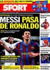 Portada diario Sport del 28 de Enero de 2010