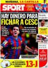 Portada diario Sport del 29 de Enero de 2010