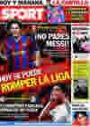 Portada diario Sport del 30 de Enero de 2010