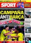 Portada diario Sport del 1 de Febrero de 2010