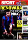 Portada diario Sport del 2 de Febrero de 2010