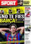 Portada diario Sport del 6 de Febrero de 2010