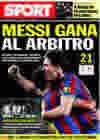 Portada diario Sport del 7 de Febrero de 2010