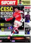 Portada diario Sport del 8 de Febrero de 2010