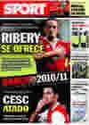 Portada diario Sport del 10 de Febrero de 2010