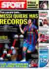 Portada diario Sport del 12 de Febrero de 2010