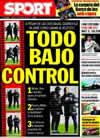 Portada diario Sport del 13 de Febrero de 2010