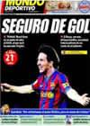 Portada Mundo Deportivo del 14 de Febrero de 2010
