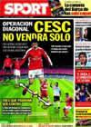 Portada diario Sport del 18 de Febrero de 2010