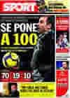 Portada diario Sport del 19 de Febrero de 2010