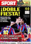Portada diario Sport del 21 de Febrero de 2010