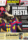 Portada Mundo Deportivo del 21 de Febrero de 2010