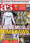 Portada diario AS del 23 de Febrero de 2010