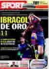 Portada diario Sport del 24 de Febrero de 2010