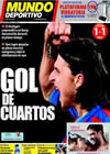 Portada Mundo Deportivo del 24 de Febrero de 2010