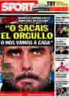Portada diario Sport del 25 de Febrero de 2010