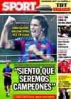 Portada diario Sport del 27 de Febrero de 2010