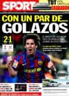 Portada diario Sport del 28 de Febrero de 2010