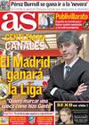 Portada diario AS del 2 de Marzo de 2010