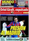 Portada Mundo Deportivo del 6 de Marzo de 2010