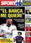 Portada diario Sport del 8 de Marzo de 2010