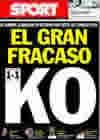 Portada diario Sport del 11 de Marzo de 2010