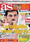 Portada diario AS del 12 de Marzo de 2010