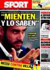 Portada diario Sport del 14 de Marzo de 2010