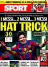 Portada diario Sport del 15 de Marzo de 2010