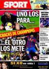 Portada diario Sport del 16 de Marzo de 2010