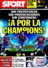 Portada diario Sport del 17 de Marzo de 2010