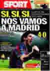 Portada diario Sport del 18 de Marzo de 2010