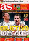 Portada diario AS del 21 de Marzo de 2010