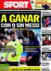 Portada diario Sport del 21 de Marzo de 2010