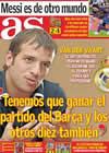 Portada diario AS del 22 de Marzo de 2010
