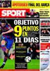 Portada diario Sport del 24 de Marzo de 2010
