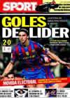 Portada diario Sport del 25 de Marzo de 2010