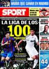 Portada diario Sport del 26 de Marzo de 2010