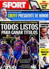 Portada diario Sport del 27 de Marzo de 2010
