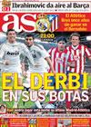 Portada diario AS del 28 de Marzo de 2010