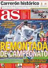 Portada diario AS del 29 de Marzo de 2010