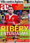 Portada diario AS del 1 de Abril de 2010
