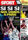 Portada diario Sport del 2 de Abril de 2010