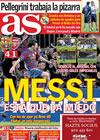Portada diario AS del 7 de Abril de 2010